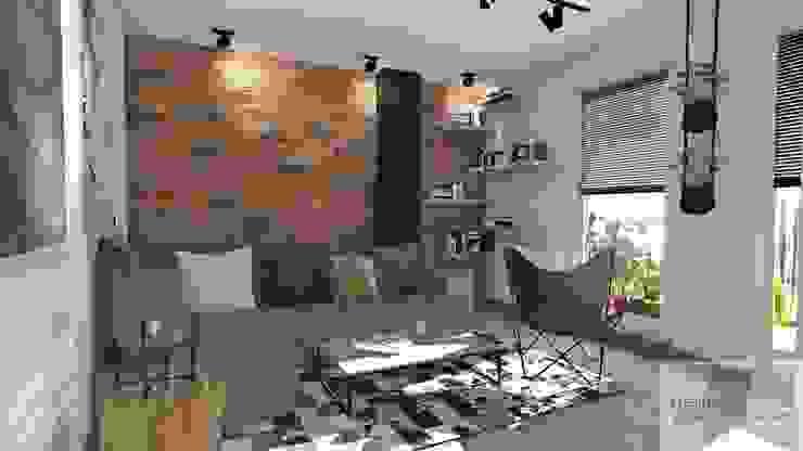Гостиная в стиле лофт от Designbox Marta Bednarska-Małek Лофт