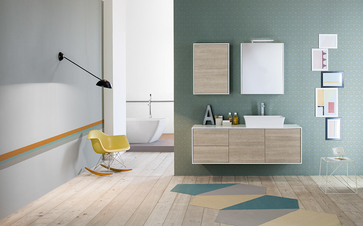 Summit collection di Mastella Design Moderno Legno composito Trasparente