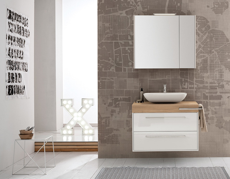 Summit collection Mastella Design BathroomStorage Engineered Wood Wood effect