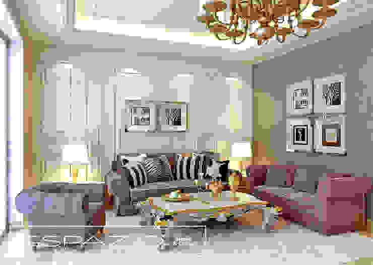 Apartamento de Luxo Salas de estar clássicas por Espazio - Home & Office Clássico
