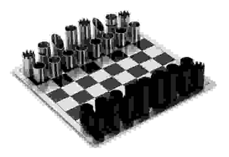 Chess Game _ Xadrez por Cantos da Casa interiores&mobiliário Moderno Ferro/Aço