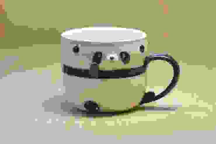 パンダカップ(丸目): 丸山陶房が手掛けた折衷的なです。,オリジナル セラミック