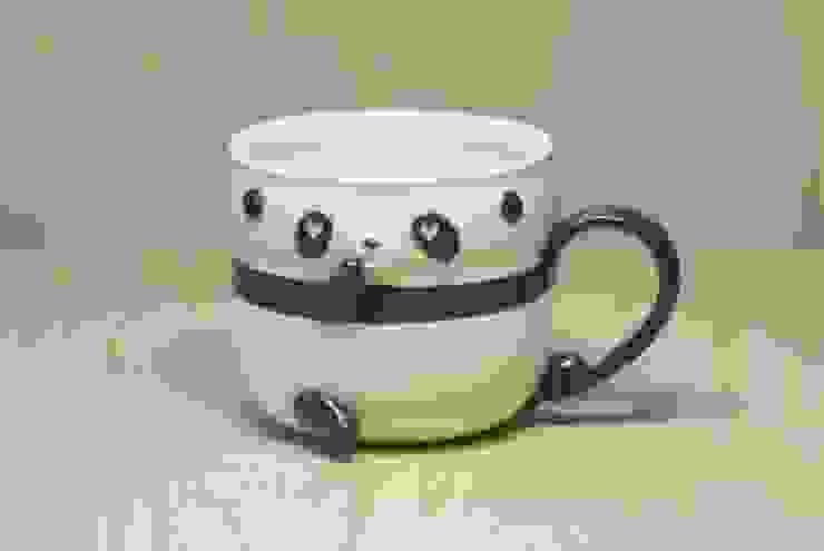 パンダカップ(ハート): 丸山陶房が手掛けた折衷的なです。,オリジナル セラミック