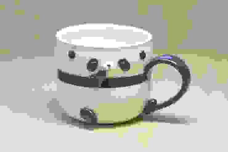 パンダカップ(- -): 丸山陶房が手掛けた折衷的なです。,オリジナル セラミック