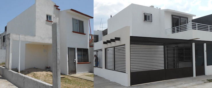 trabajos Casas de estilo clásico de Obras y reformas de vivienda,proyectos de arquitectura en Tabasco. Clásico
