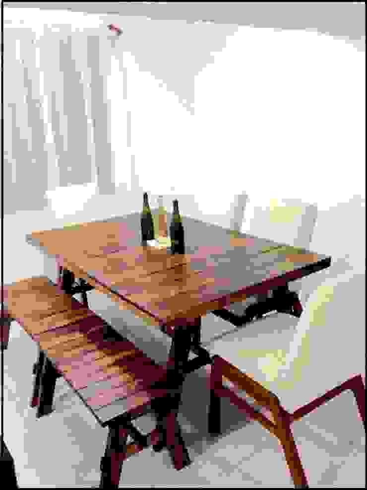 Comedor Vintage tipo A de Gonmar Diseño y Mobiliario Moderno Madera maciza Multicolor
