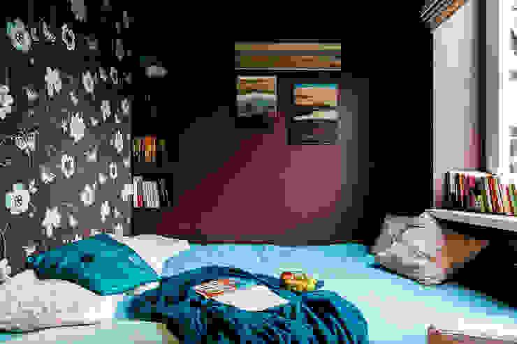 Mieszkanie w centrum miasta Eklektyczna sypialnia od Gzowska&Ossowska Pracownie Architektury Wnętrz Eklektyczny
