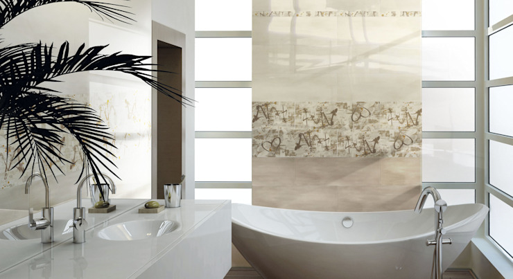 Modern style bathrooms by CERAMICHE BRENNERO SPA Modern Ceramic