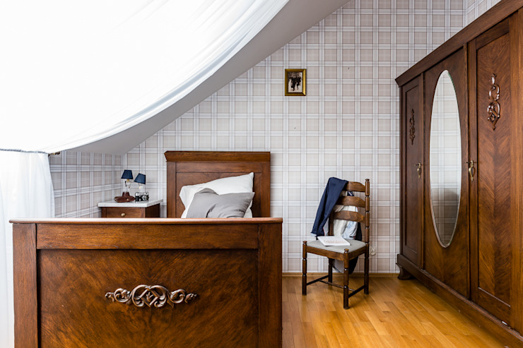 apartament z motywem Nowego Jorku: styl , w kategorii Sypialnia zaprojektowany przez Gzowska&Ossowska Pracownie Architektury Wnętrz,Nowoczesny