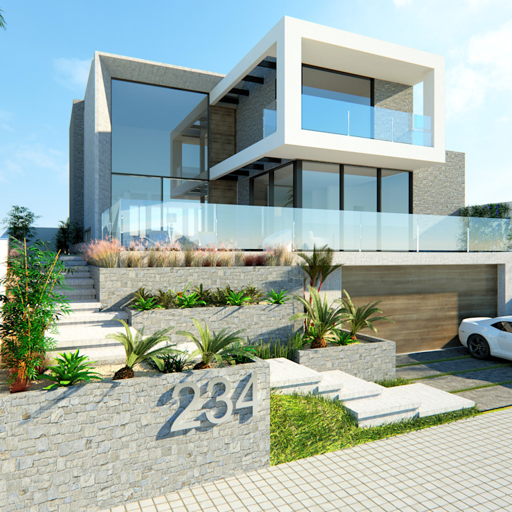 Manuela Di Giorgio | Arquitetura e Interiores Casas de estilo moderno Hormigón Gris