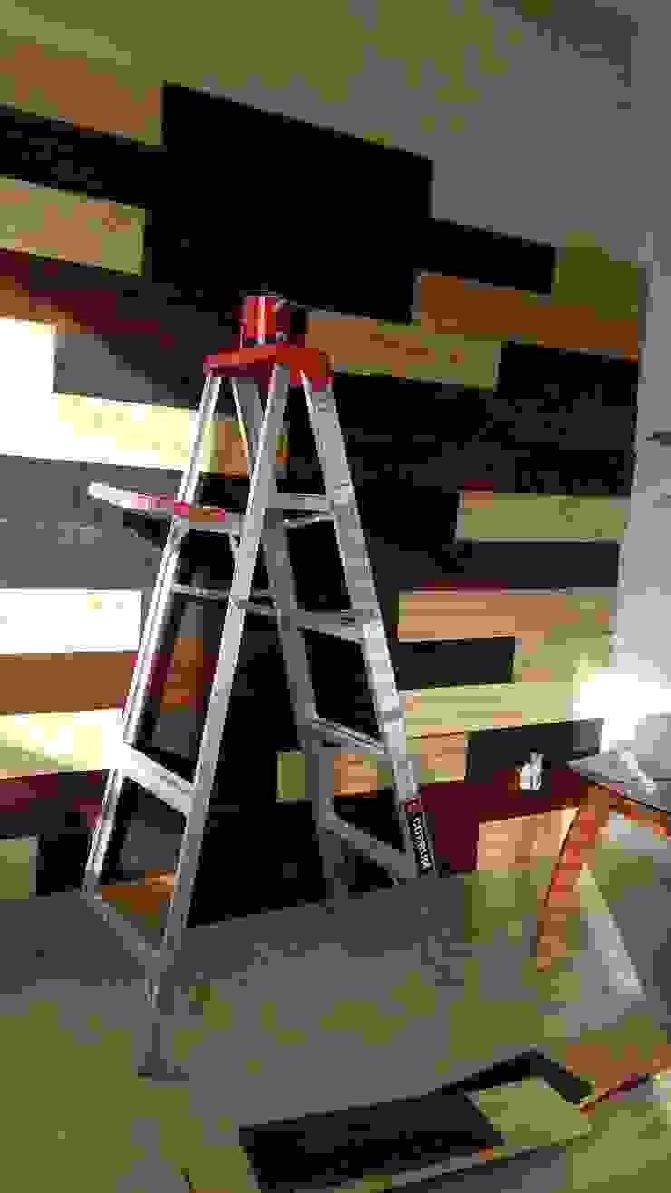 Muro entablerado:  de estilo industrial por Diseñeria 72ocho10, Industrial Madera maciza Multicolor