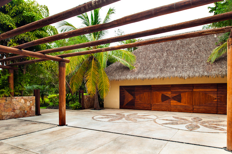 Tropical walls & floors by BR ARQUITECTOS Tropical