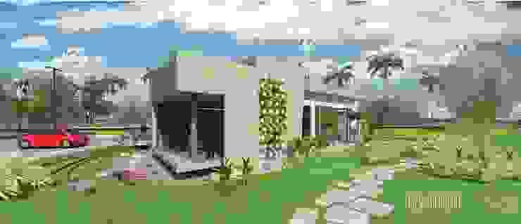 Vista Lateral Frontal Sur externa, Sala de inspiración. Oficina Experience Center. 2015 Casas de estilo minimalista de Eisen Arquitecto Minimalista