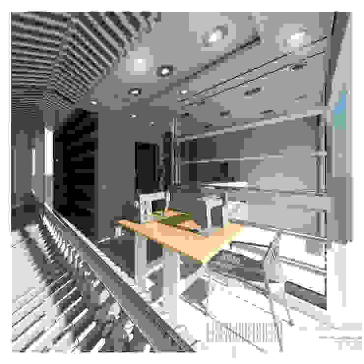 Vista3D- Costura,Vitrina, caja- Tintoteria Tamir de Eisen Arquitecto Minimalista