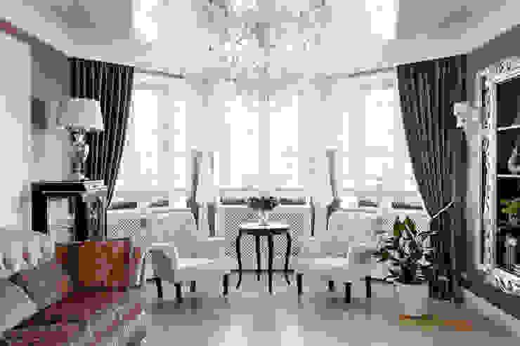 Квартира в г.Калининграде Гостиная в классическом стиле от AGRAFFE design Классический