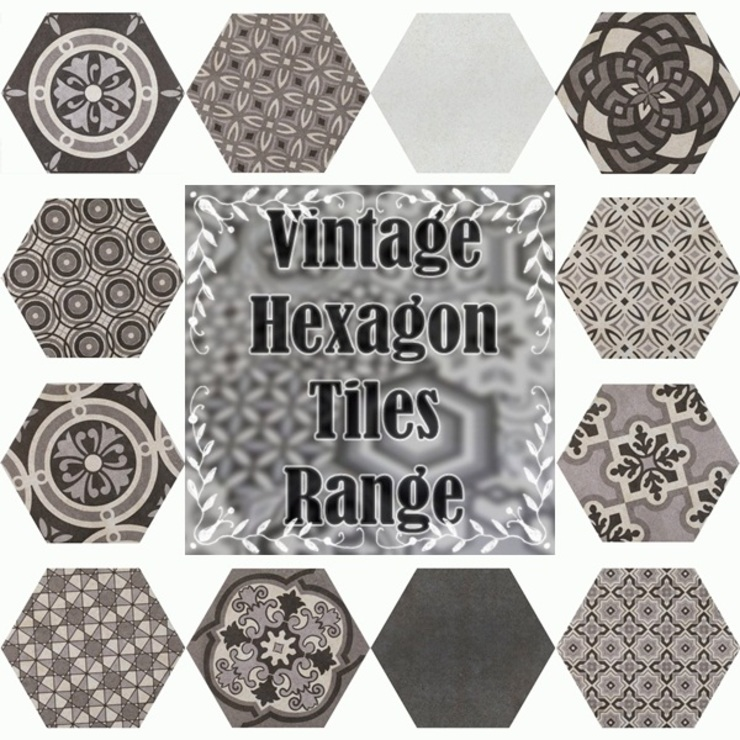 Bathroom Hexagon Range: classic  by Tilezone,Classic Tiles