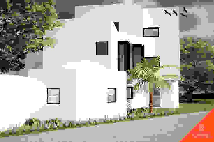 Fachada Norte Casas de estilo minimalista de CÉRVOL Minimalista