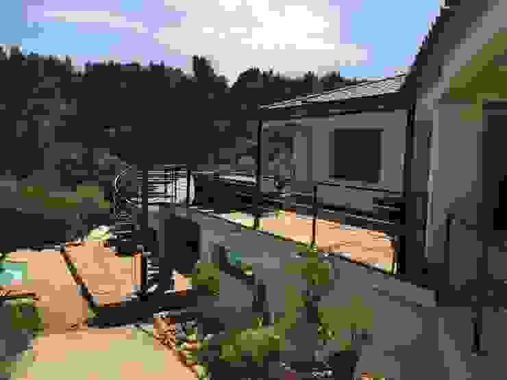 Terrasse Balcon, Veranda & Terrasse modernes par BATIR AU NATUREL Moderne Bois massif Multicolore