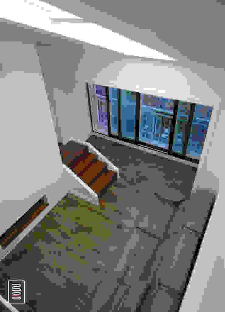 복층 24평형 신혼집 아파트 모던스타일 복도, 현관 & 계단 by 로움 건축과 디자인 모던