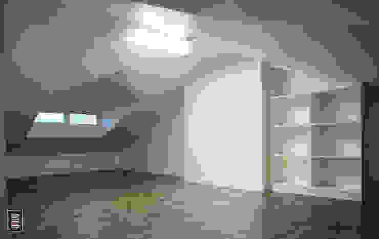 복층 24평형 신혼집 아파트 : 로움 건축과 디자인 의  침실,모던