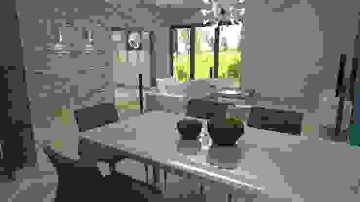 Salon z jadalnią od archJudyta Aranżacja Wnętrz