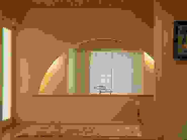 囲炉裏のある家 モダンスタイルの 玄関&廊下&階段 の アンドウ設計事務所 モダン 無垢材 多色