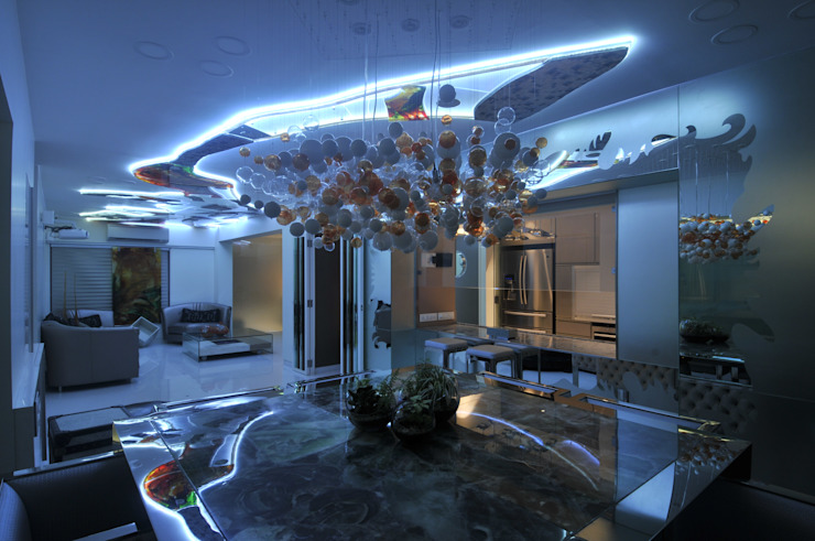 Site at Juhu Modern dining room by Mybeautifulife Modern