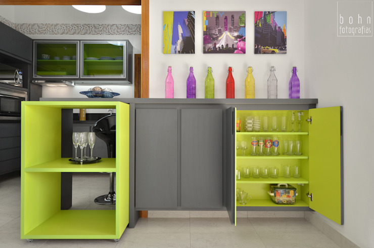 Equilibrio de cores Cozinhas modernas por Bethina Wulff Moderno