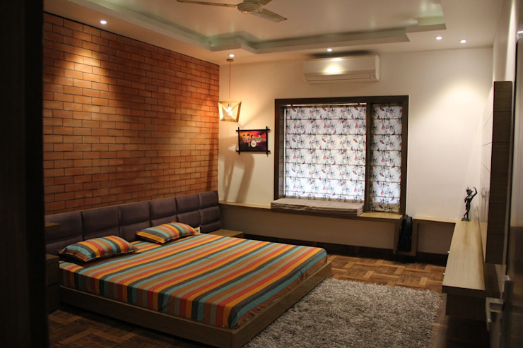 Chand Residence Modern style bedroom by Studio Ezube Modern