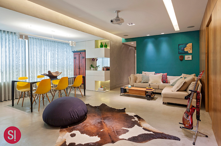Apartamento CM Salas de jantar modernas por Botti Arquitetura e Interiores-Natália Botelho Moderno Concreto