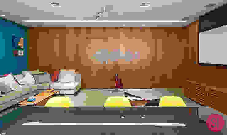 Apartamento CM por Botti Arquitetura e Interiores-Natália Botelho Moderno Madeira Efeito de madeira