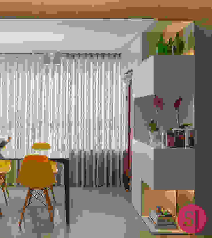 Apartamento CM Salas de jantar modernas por Botti Arquitetura e Interiores-Natália Botelho Moderno MDF