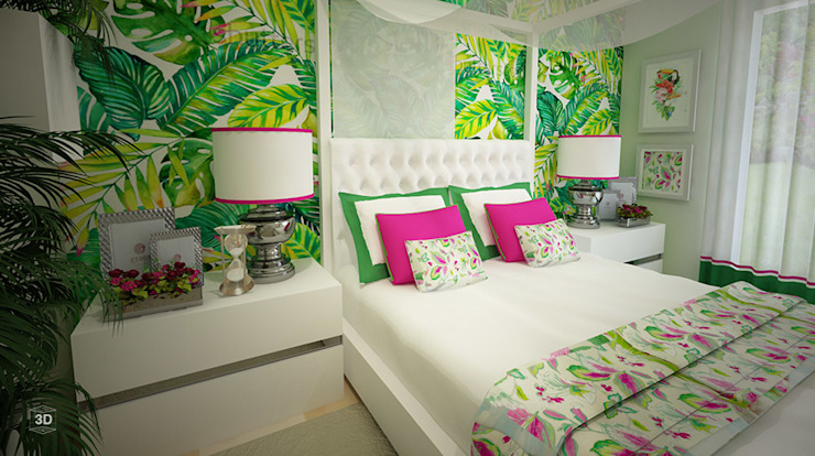 Спальни в . Автор – GRAÇA Decoração de Interiores, Модерн