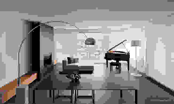 Minimalismo a Lugano - Progetto arch. Victor Vasilev Soggiorno minimalista di adriano pecchio photographer Minimalista