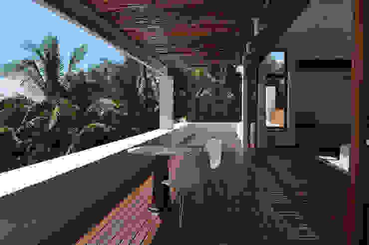Casa Lunamar Salones modernos de José Vigil Arquitectos Moderno