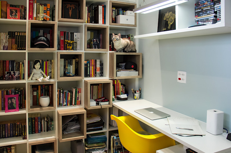 Modern study/office by Ana Adriano Design de Interiores Modern Wood Wood effect