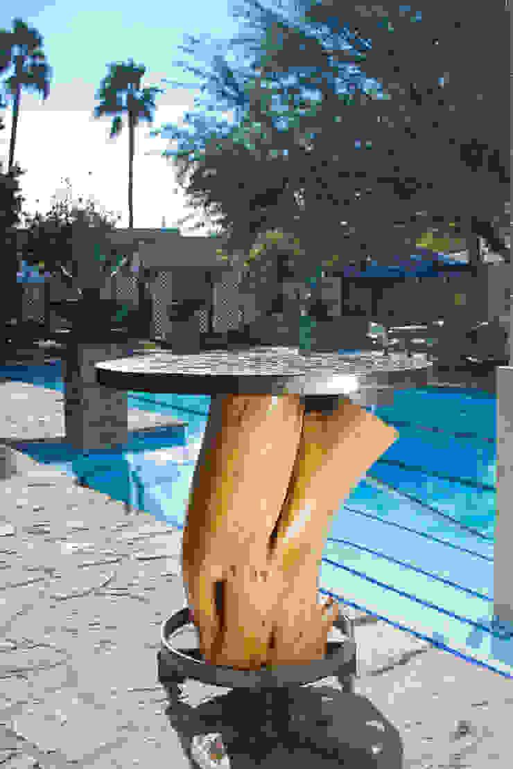 Periquera de tronco de Oscar Leon/ Arte Renovable & Muebles Rústico Madera Acabado en madera