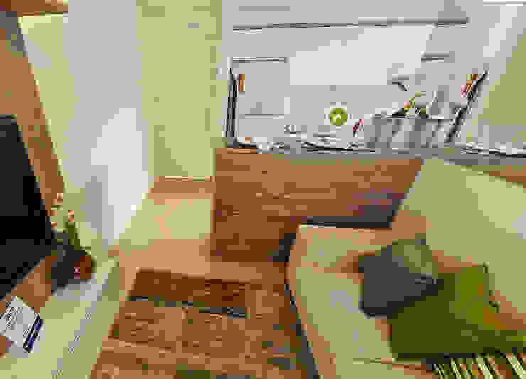Apartamento decorado porto polaris por Débora Campos Arquiteta Moderno