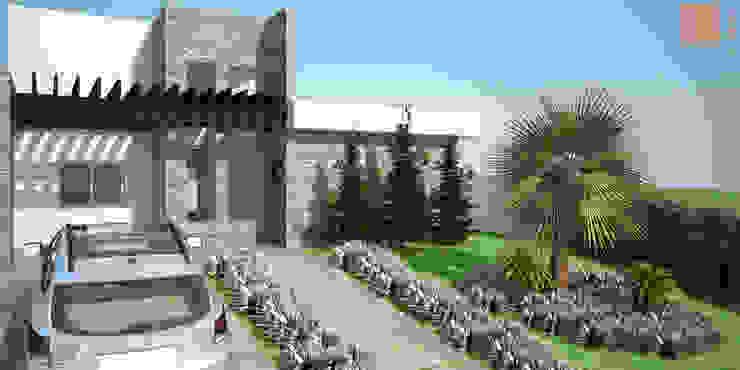 Casa SS Casas modernas por KC ARQUITETURA urbanismo e design Moderno Pedra Calcária