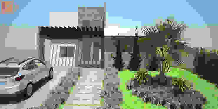 Casa SS KC ARQUITETURA urbanismo e design Casas modernas Pedra Calcária Branco