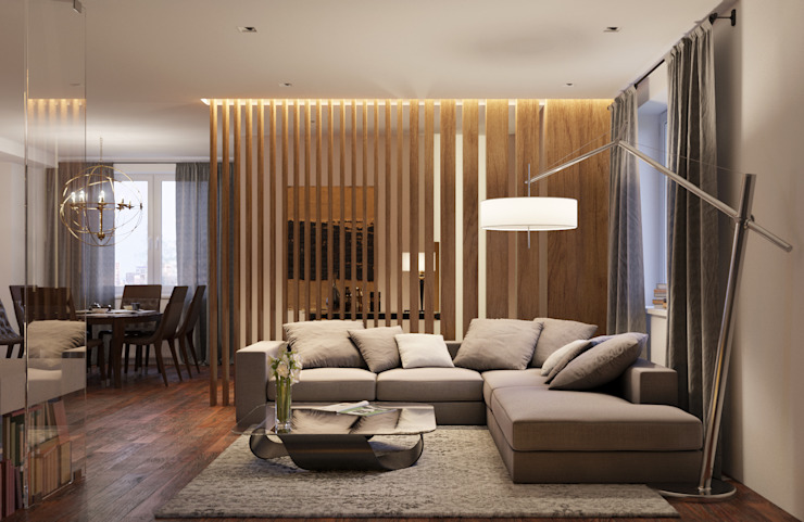 Living room by homify, Modern Wood Wood effect