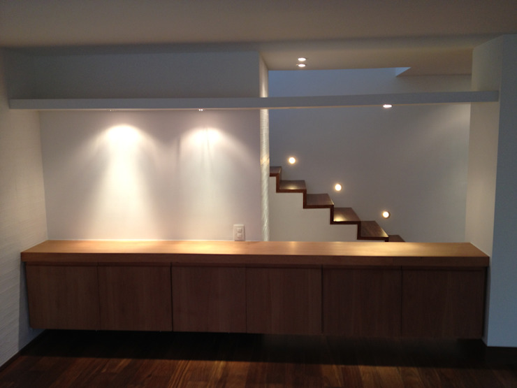 AMR ARQUITECTOS Modern Corridor, Hallway and Staircase
