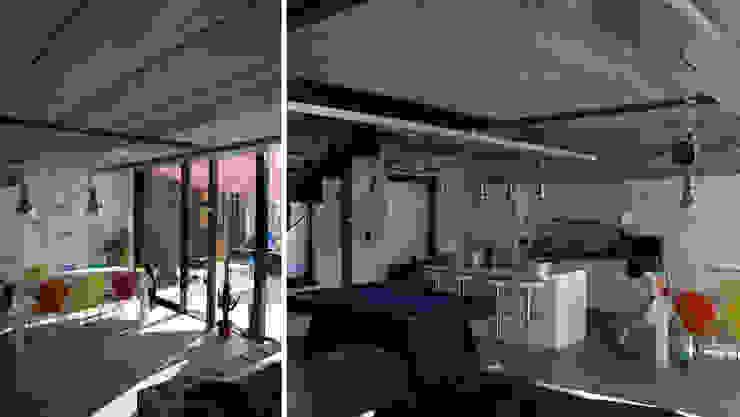 Habitation DNH Salle à manger moderne par VORTEX atelier d'architecture Moderne