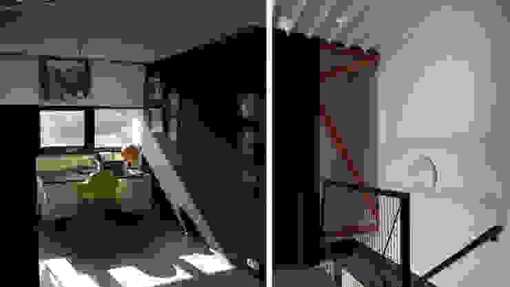 Habitation DNH Couloir, entrée, escaliers modernes par VORTEX atelier d'architecture Moderne