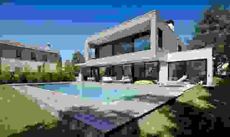 Villa Wainer Casas de estilo moderno de Kawneer España Moderno