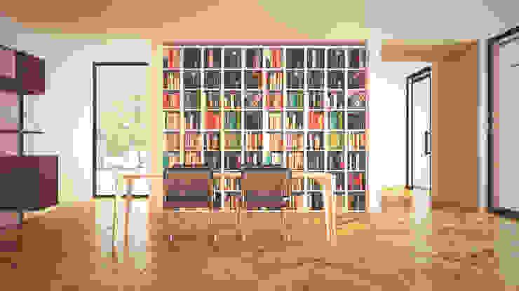 L House: Salas de estar  por Antony Simões Studio
