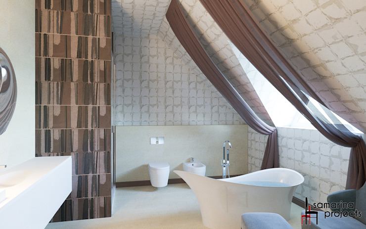""""""" В поисках гармонии"""" Ванная комната в стиле минимализм от Samarina projects Минимализм"""