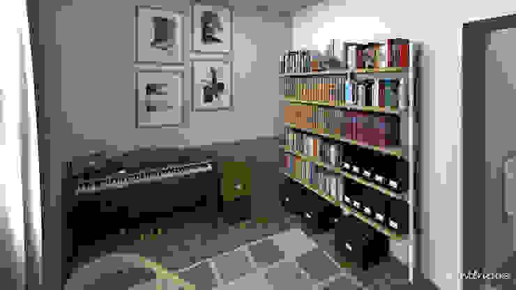 ห้องทำงาน/อ่านหนังสือ โดย MJ Intérieurs, อินดัสเตรียล