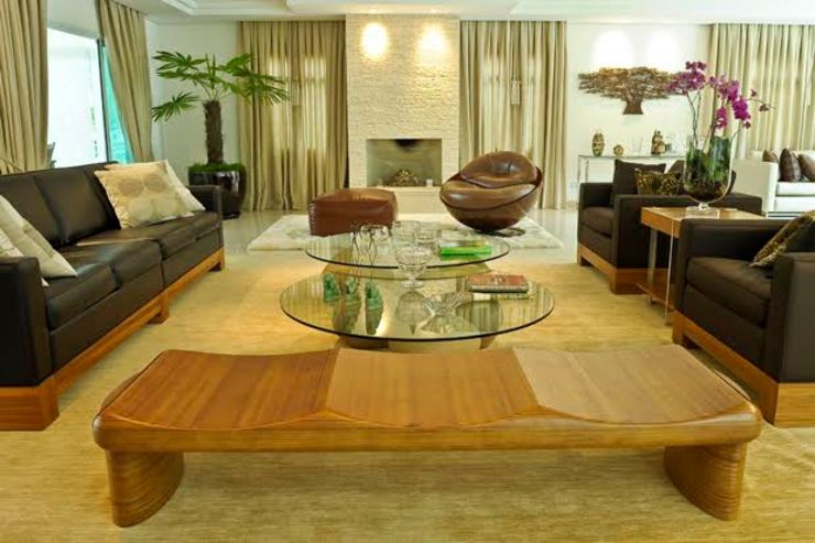 Eclectic style living room by RUTE STEDILE INTERIORES Eclectic