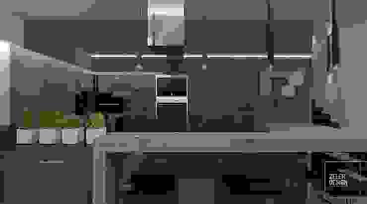 Prosta przestrzeń - kuchnia Nowoczesna kuchnia od Zeler Design Nowoczesny
